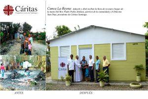 Cáritas Santiago entrega casa a familia que lo perdió todo en un incendio