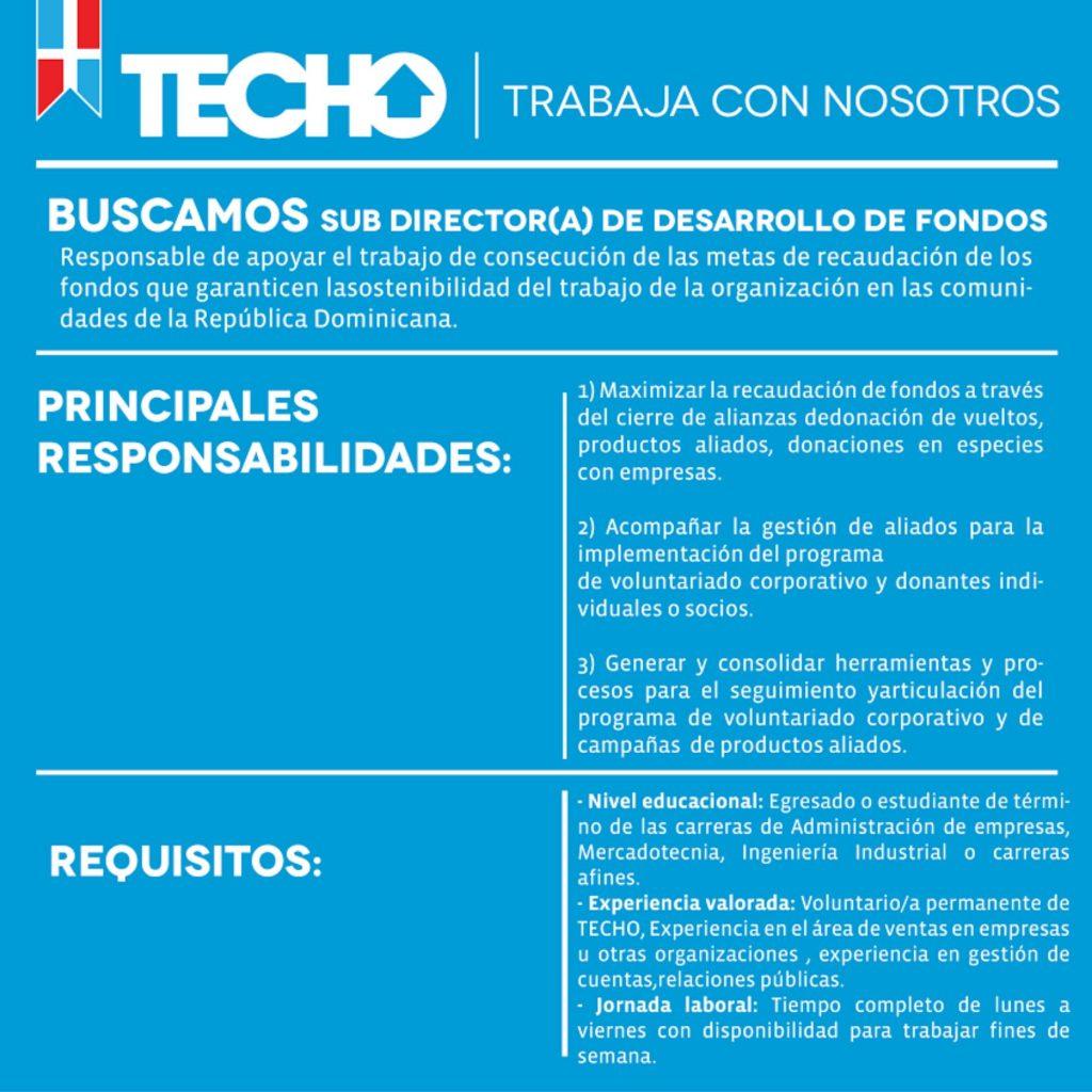 Sub-Dirección de Desarrollo de Fondos - TECHO República Dominicana ...