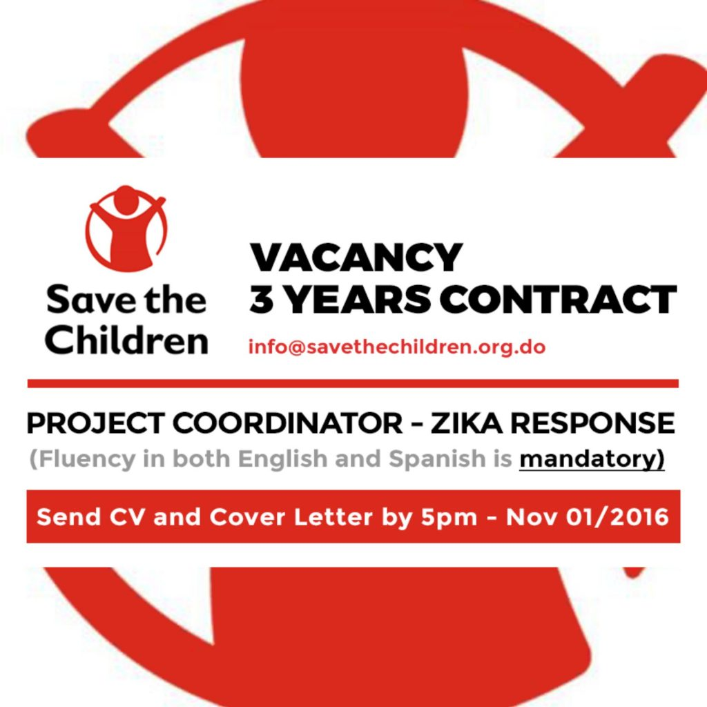 Project Coordinator – Zika Response (3 years contract - Fluency in ...