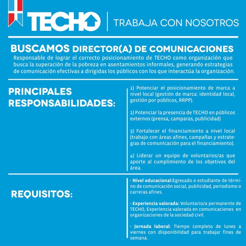 Dirección nacional de Comunicaciones - TECHO República Dominicana ...
