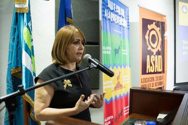 Dra. Miguelina Tactuk, Directora de la Escuela Nacional de Gestión de Riesgo - ESNAGERI.