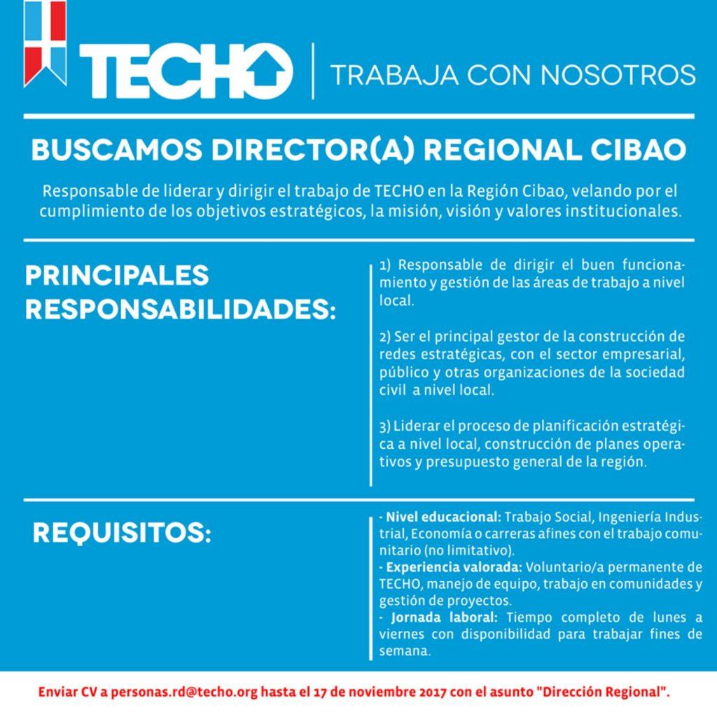Director/a Regional Cibao - TECHO República Dominicana ...