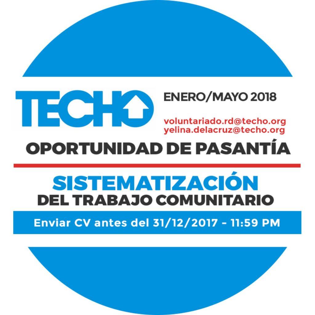 """Pasantía: """"Sistematización del Trabajo Comunitario"""" - TECHO ..."""