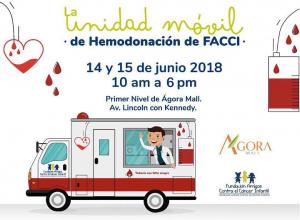 FACCI inaugura Unidad Móvil para Donación de Sangre a niños con cáncer