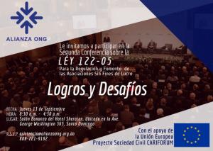 Celebrarán Segunda Conferencia Sobre la Ley 122-05 de las Asociaciones Sin Fines de Lucro