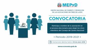 Centro de Fomento convoca representantes de ASFLs a presentar candidaturas periodo 2019-2021