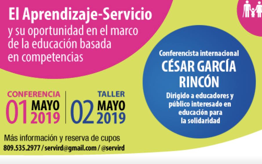Servir-D realizará conferencia y taller sobre el Aprendizaje-Servicio en la educación basada en competencias