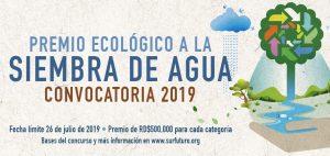 Sur Futuro abre la convocatoria para el Premio Ecológico a la Siembra de Agua 2019