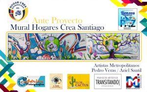 Hogar Crea inaugurará mural durante evento de «Arte y Cultura» en Santiago