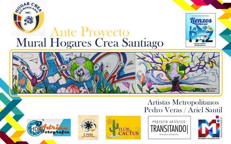"""Hogar Crea inaugurará mural durante evento de """"Arte y Cultura"""" en Santiago"""